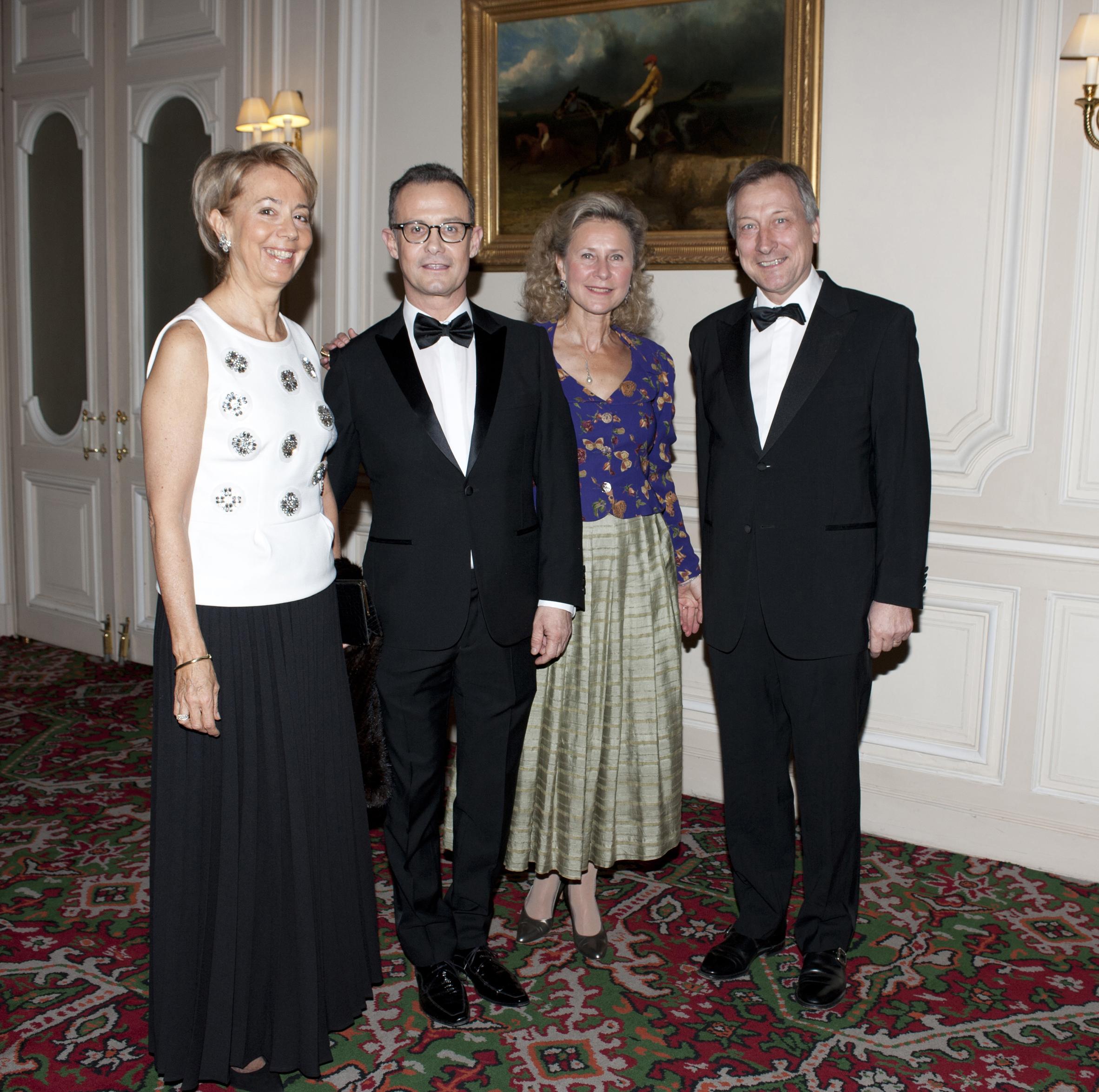 Mme Vincent MERTENS de WILMARS - Francis BAILLET - Armelle CEGLEC - Vincent MERTENS de WILMARS, ambassadeur de Belgique