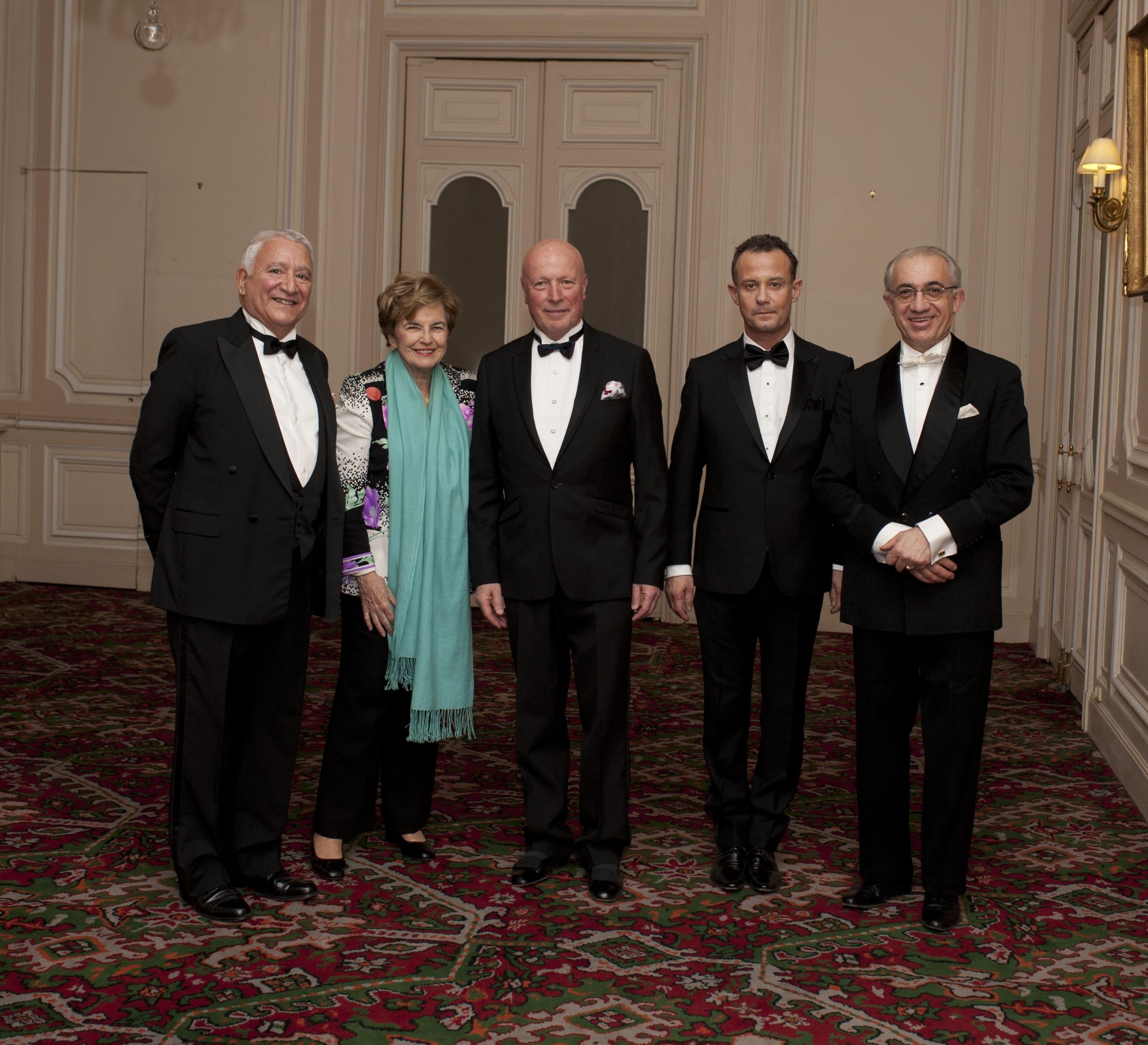 Jean-Daniel TORDJMAN - Mme TORDJMAN - Baron François-Xavier de SAMBUCY de SORGUE - Francis BAILLET - Dr. SPITERRI