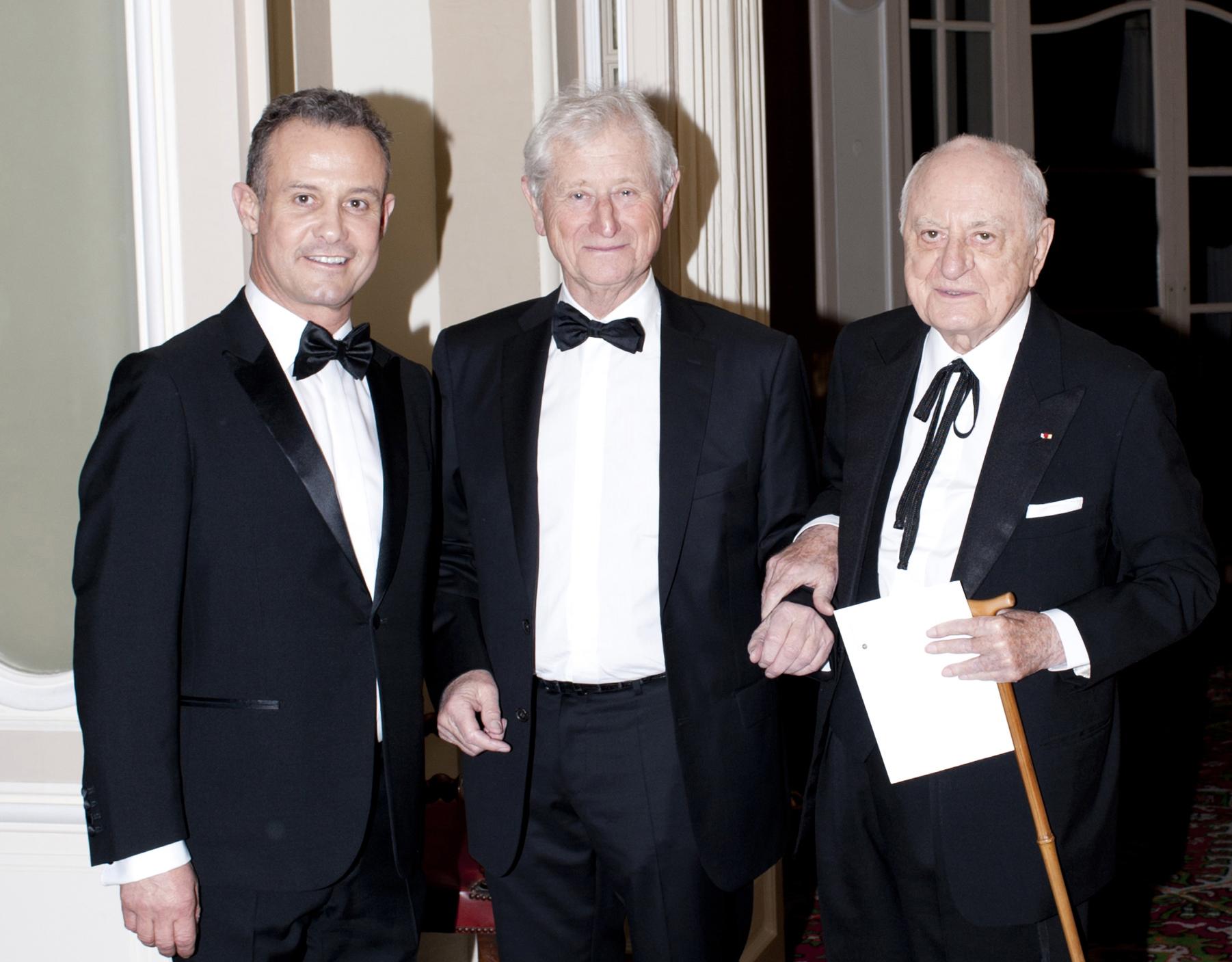 Francis BAILLET, avocat à la Cour - Jacques BURSZTEJN, collectionneur - Pierre BERGÉ, mécène & président de la fondation Pierre Bergé - Yves Saint Laurent
