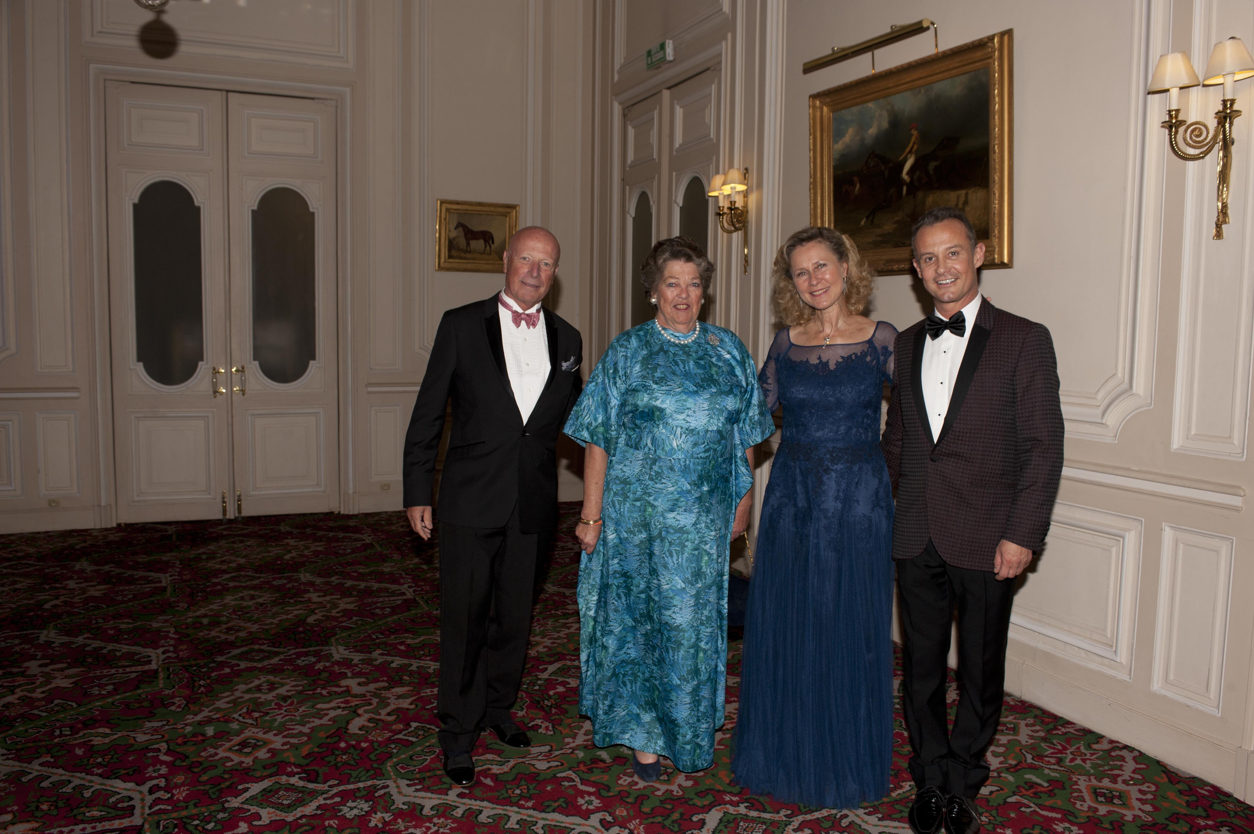 Baron François-Xavier de SAMBUCY de SORGUE - S.A.R la princesse Chantal de FRANCE - Armelle CEGLEC - Francis BAILLET