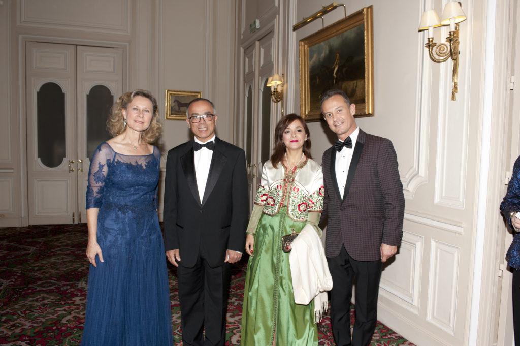 Armelle CEGLEC - Chakib BENMOUSSA, ambassadeur du Maroc - Mme Chakib BENMOUSSA - Francis BAILLET