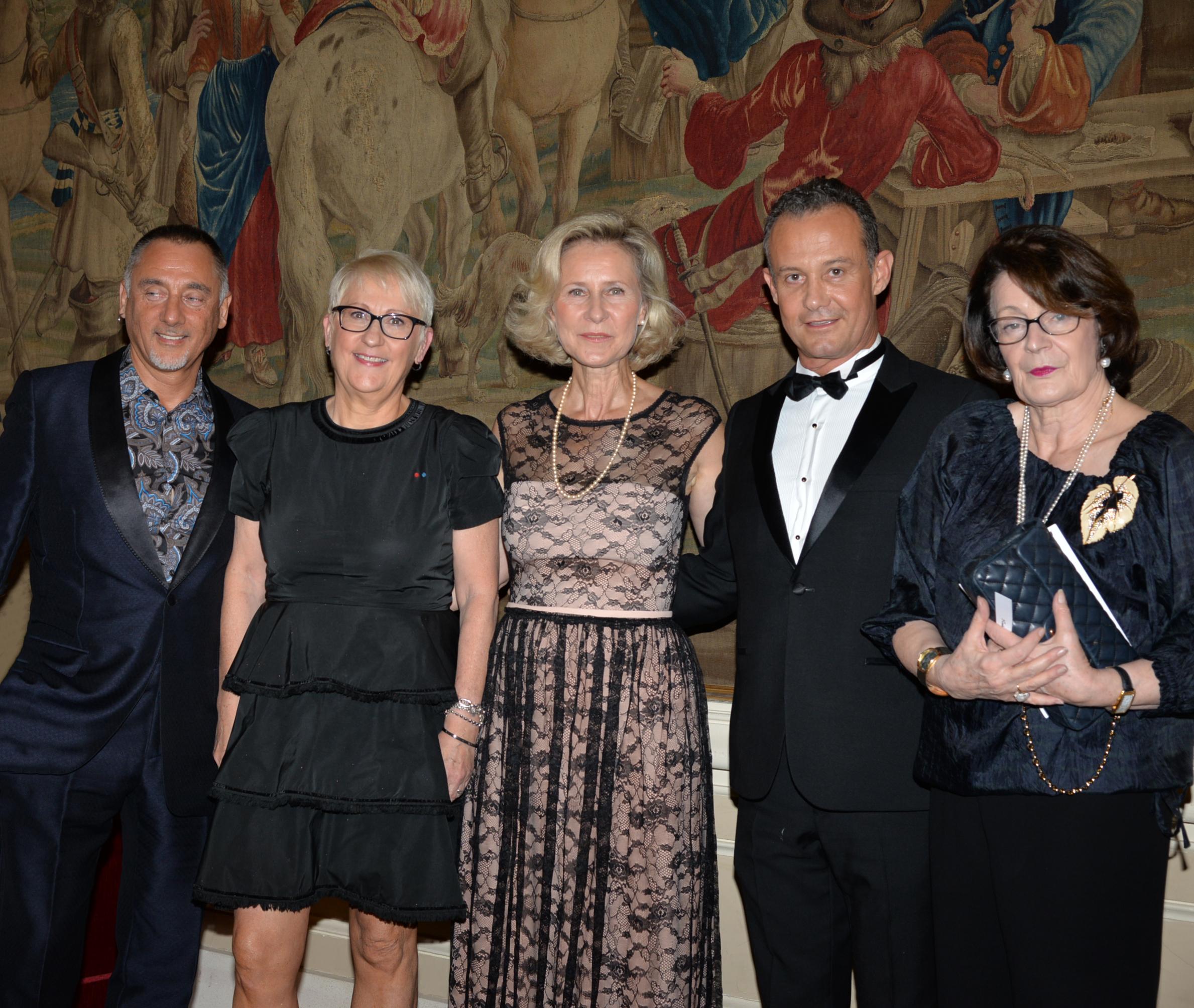 Jean Paul VALZ - Mercedes ERRA - Armelle CEGLEC - Francis BAILLET - Mme LECLAN