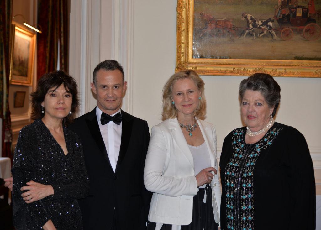 Nathalie OBADIA, Galeriste - Francis BAILLET, avocat à la Cour - Armelle CEGLEC - S.A.R la princesse Chantal de FRANCE