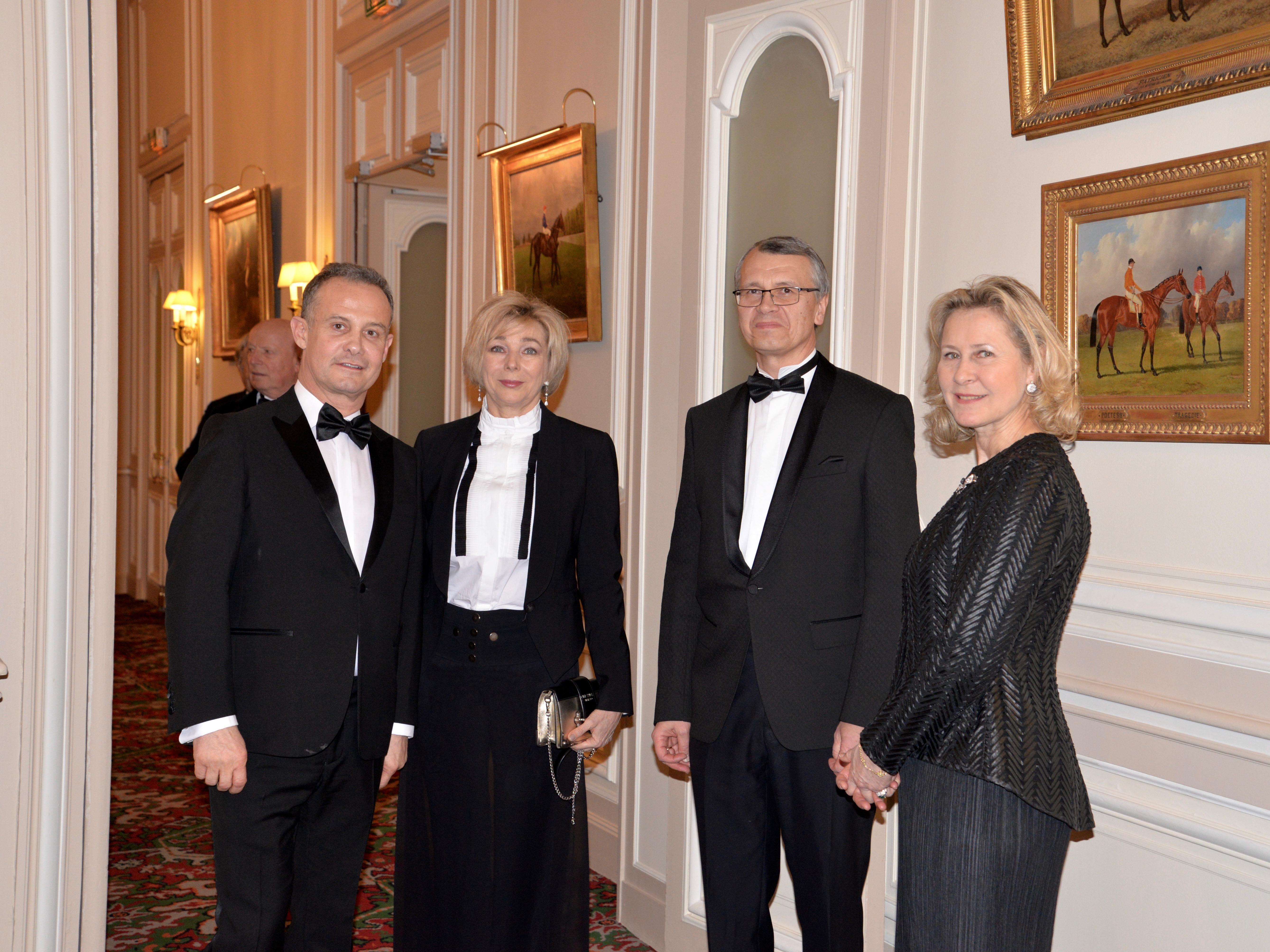 Francis BAILLET - Mme et M. Léonid LADYCHEV - Armelle CEGLEC